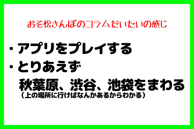 位置ゲーム新作アプリおそ松さんぽ東京歩き
